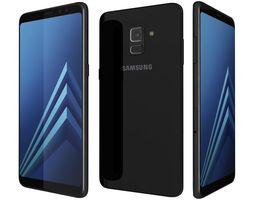 Samsung Galaxy A8 2018 Plus Black 3D