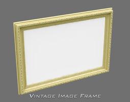 3D Vintage Image Frame