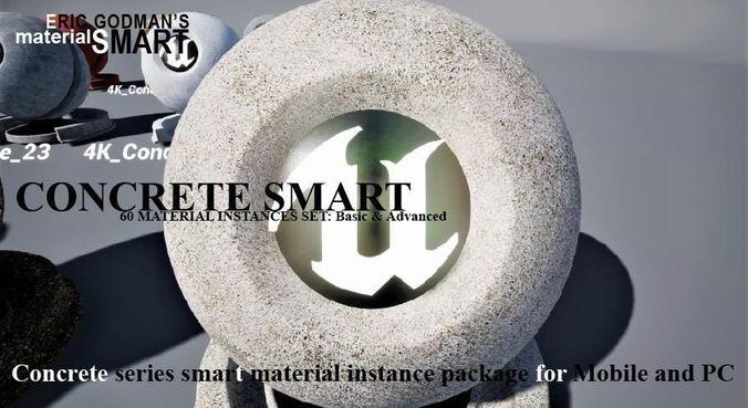 concrete materials 3d model uasset 1