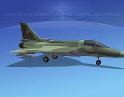 game-ready hal tejas fighter v02 3d model rigged