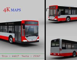3D asset Mercedes Bus with interior
