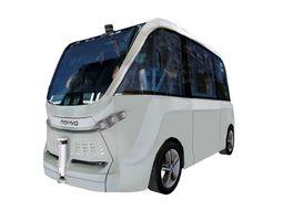 3D model Driverless shuttle bus Navya Arma low polygon