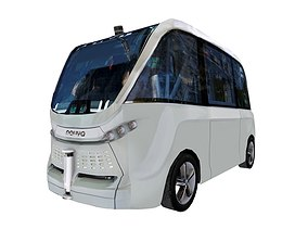 3D model Driverless shuttle bus Navya Arma low