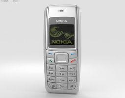 Nokia 1110 White 3D model phone