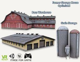 Barn House Warehouse and Grain Storage 3D model