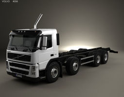 heavy 3D Volvo FM Chassis Truck 4-axle 2010