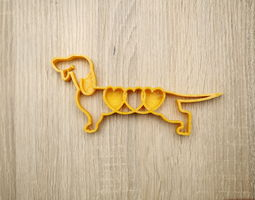 Cookie shape dog dachshund 3D print model