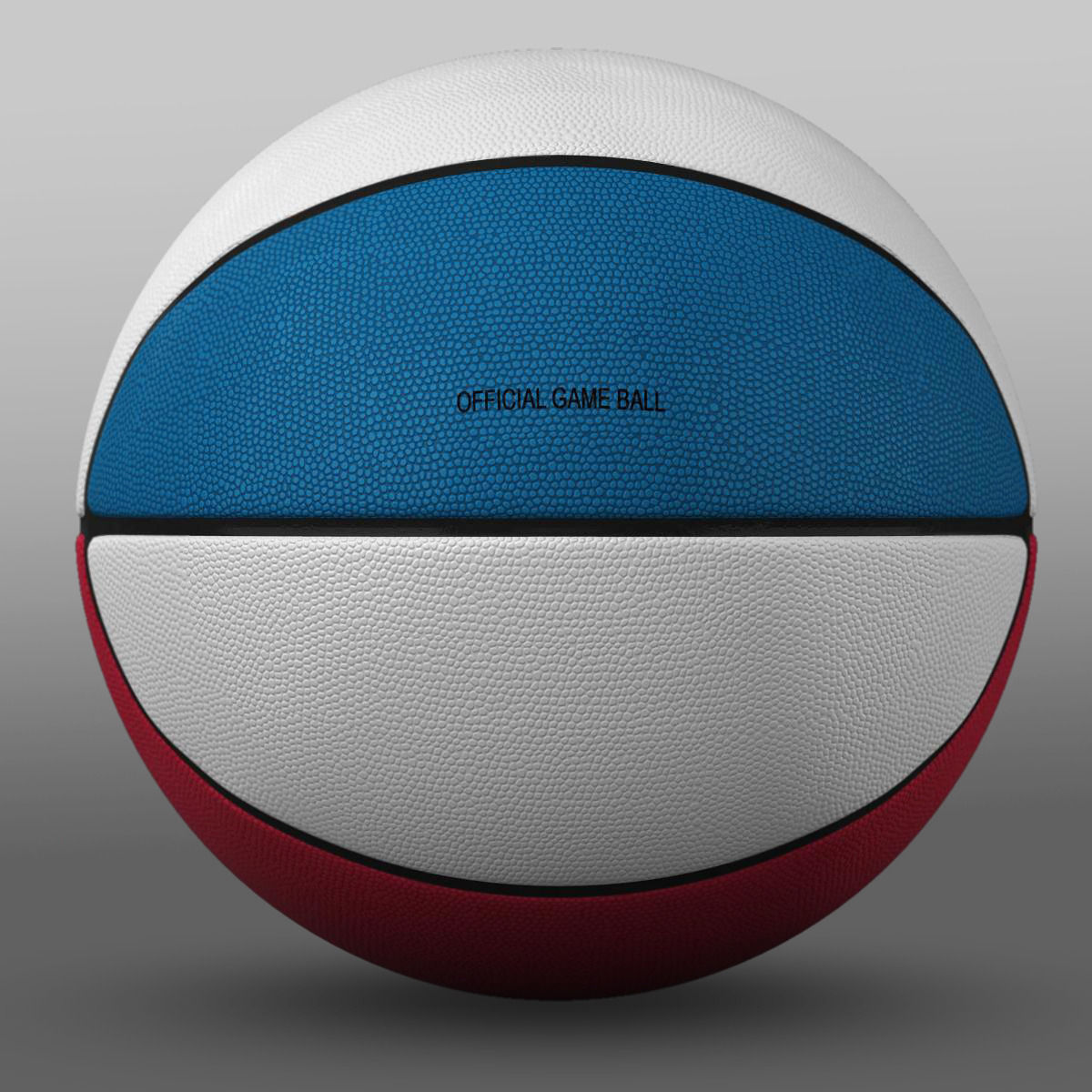 3D model Standard basketball ball VR AR low poly MAX