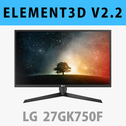 E3D - LG 27GK750F-B Monitor 3D model