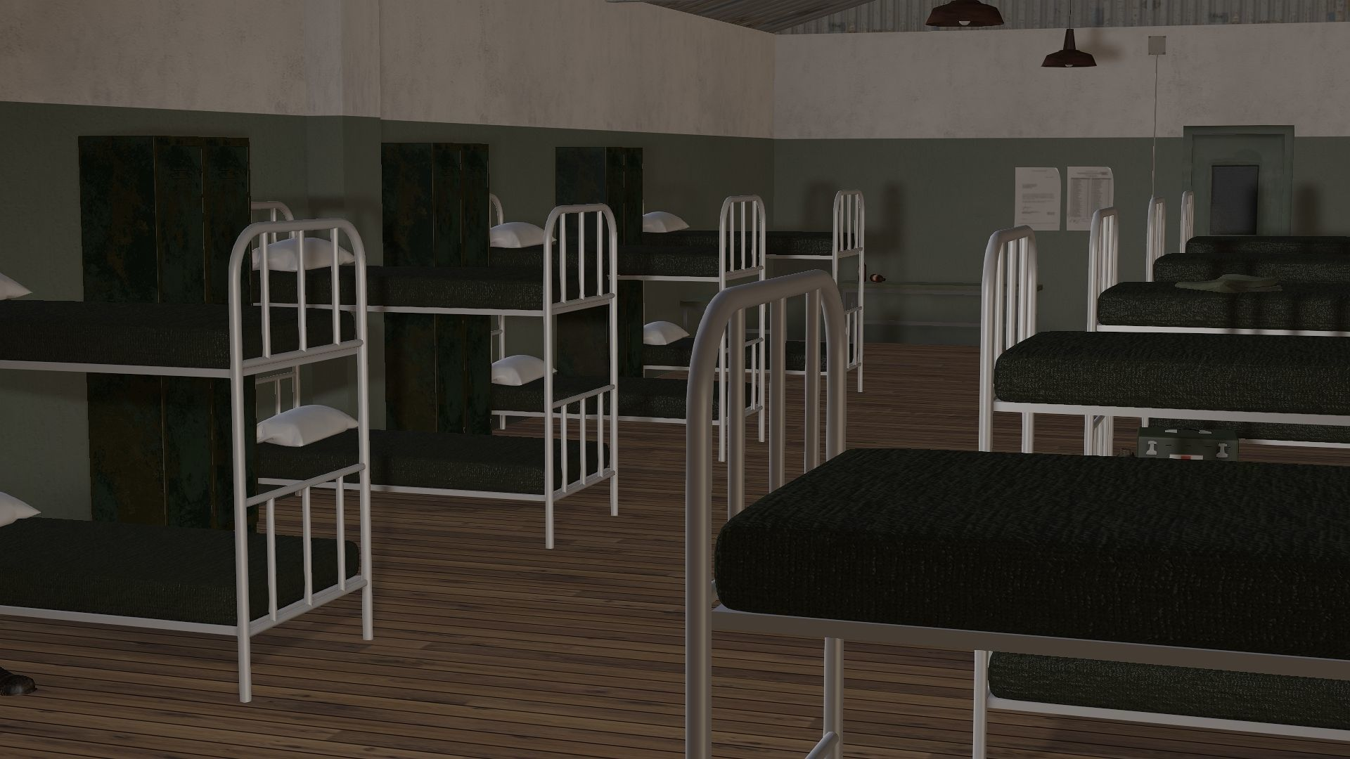 3D Model Army Military Barracks room | 3D model