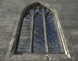 3D asset Gothic window