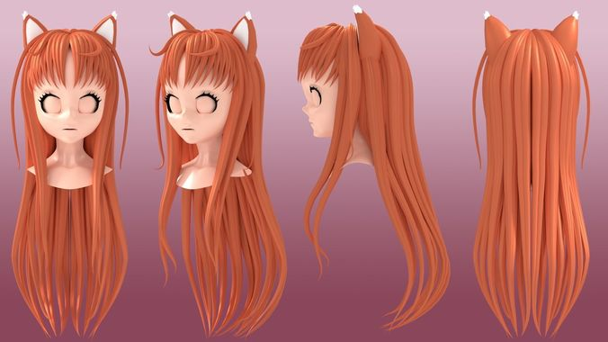 Holo The Wise Wolf Hairstyle 3d Holo Cgtrader