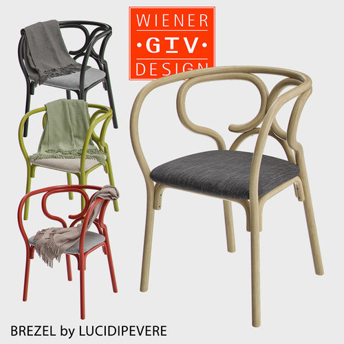 Brezel   Gebrueder Thonet Vienna Chair 3D Model