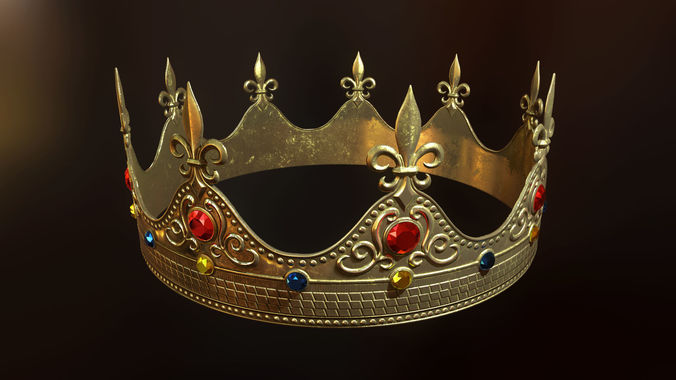 King crown pbr ready 3d asset cgtrader thecheapjerseys Image collections