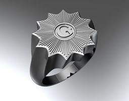 3D printable model Masonic ring