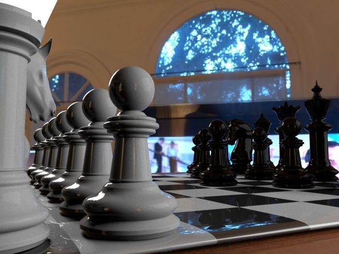 chess 3d print model  3d model stl 1