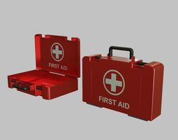 First Aid Medical Kit - Medkit - Safety and 3D model 1