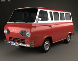 3D model E-Series Falcon Club Wagon 1963