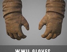 WWII Gloves 3D asset