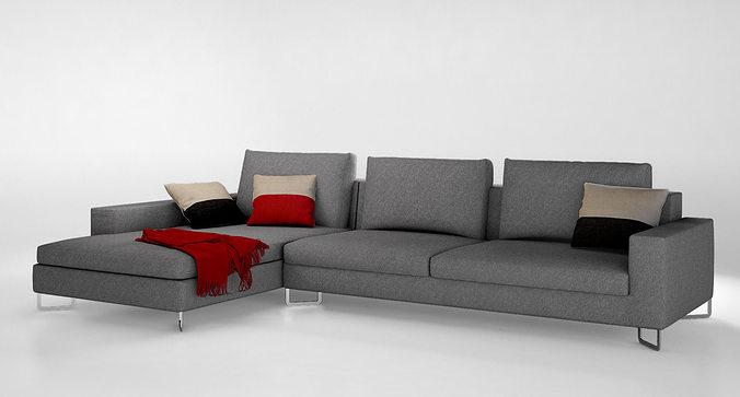 Molteni Large sofa | 3D model