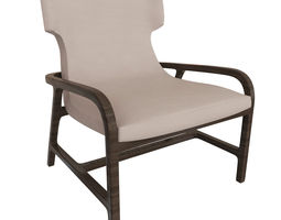 leather furniture Armchair 3D model
