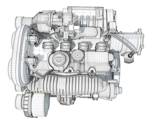 Car Engine 3D model | CGTrader