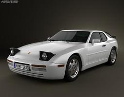3D Porsche 944 coupe 1991