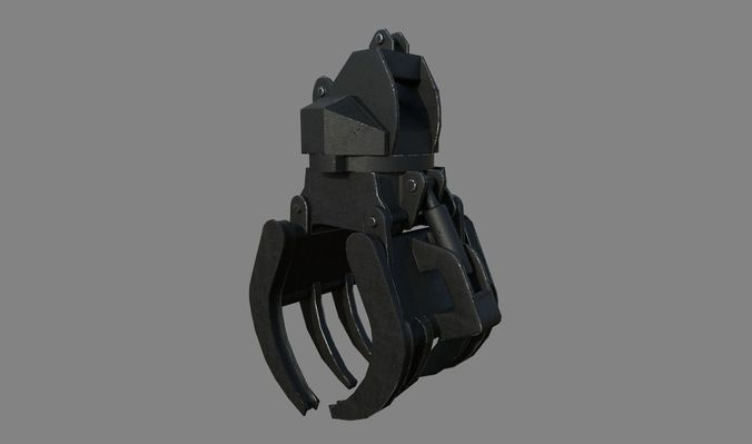construction grapple claw 3d model fbx 1