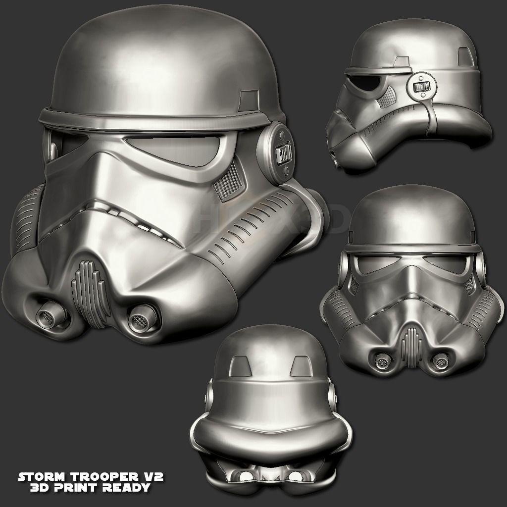StormTrooper V2 3D Print Ready Helmet