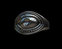 3D print model Grimace eye ring
