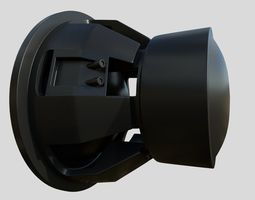 Car Audio System Speaker and Box HighPoly 3D