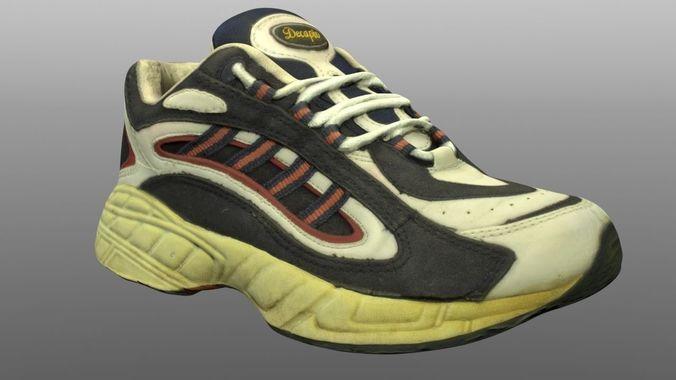 old sneaker 3d model 3d model low-poly obj mtl 3ds fbx lwo lw lws ma mb stl 1