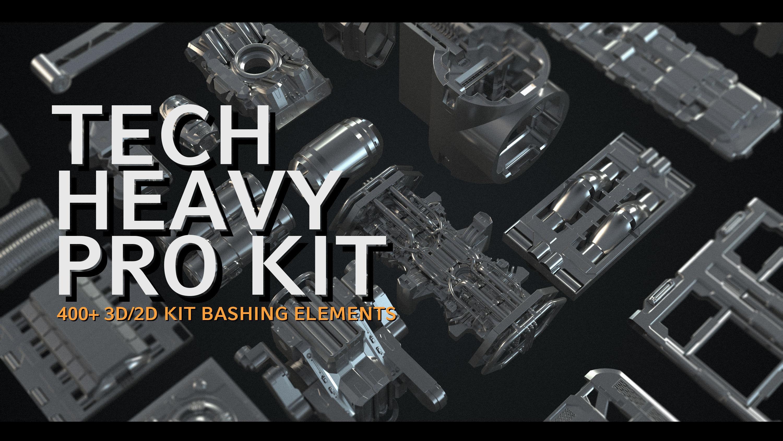 Tech Heavy Pro Kit - 400 plus 2d and 3d Elements