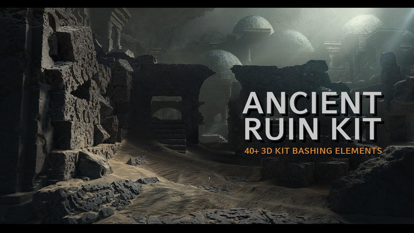 Ancient Ruin Kit - 40 plus Elements