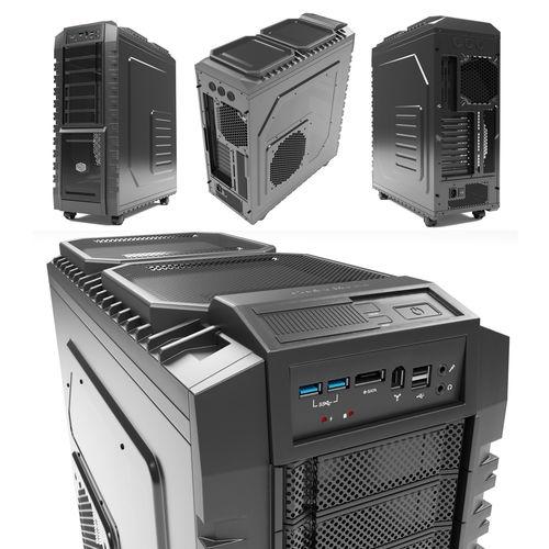 cooler master pc case 3d model max obj mtl fbx 1