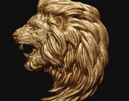 head 3D print model Lion Head relief 2