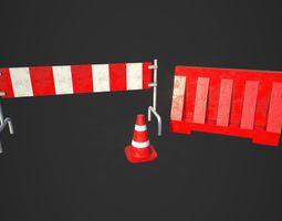 3D model Road Blocks