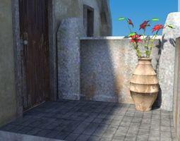 3D asset game-ready Blocks village 3