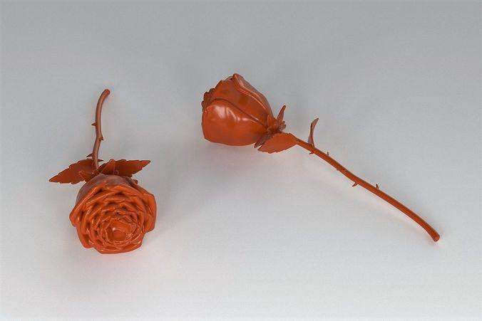 printable rose 3d model stl 1