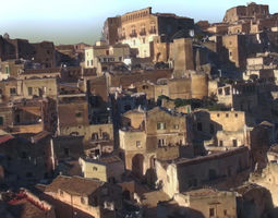 3D asset Italy Matera houses