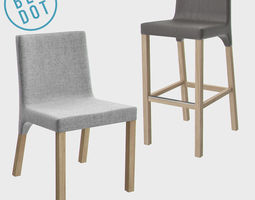 3D model Blu Dot Knicker Barstool and Chair