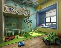 Children bedroom 01 corridor 3D model