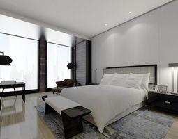 3D Hotel Bedroom Design 0105