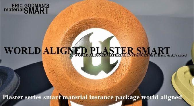 plaster world aligned materials 3d model uasset 1