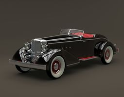 3D model 1932 Chrysler Imperial Speedster