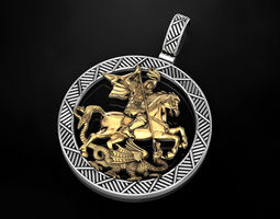 Pendant St George 3D print model