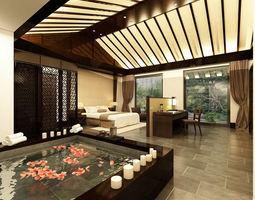 3D Luxury stylish interior master Bedroom - 34