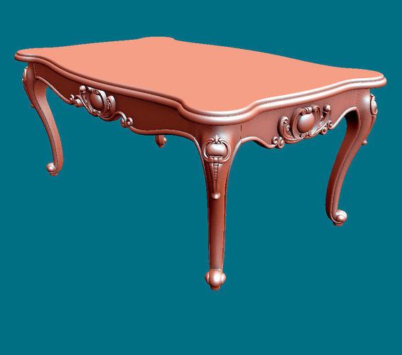 coffee table classic 3d model obj mtl stl ply 1