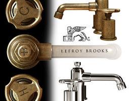 3D Lefroy Brooks Ten Ten hole basin mixer with handwheeles