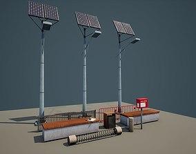 Modular Street Asset Pack 01 low-poly